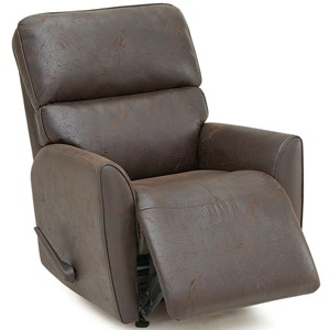 Casual Rocker Recliner with Tapered Arms