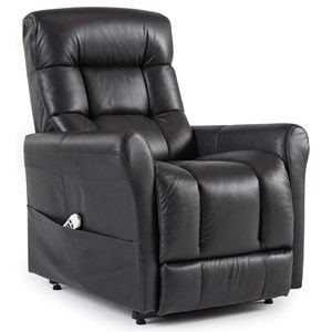 Contemporary Power Lift Chair with Rolled Arms