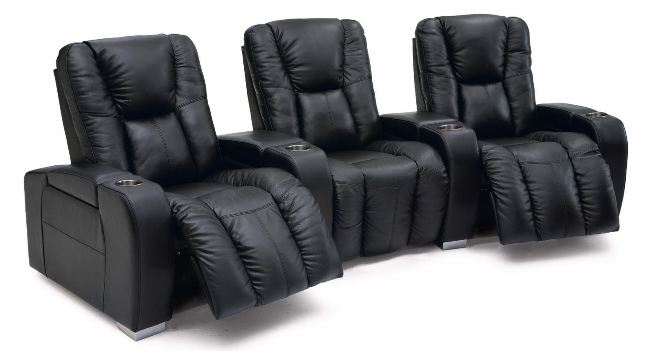 Media Power Reclining Home Theater Sectional  by Palliser at Furniture and ApplianceMart