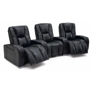 Contemporary 3-Seater Manual Reclining Home Theater Sectional