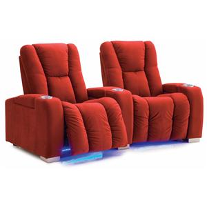 Contemporary Power Reclining 2-Seater Home Theater Sectional