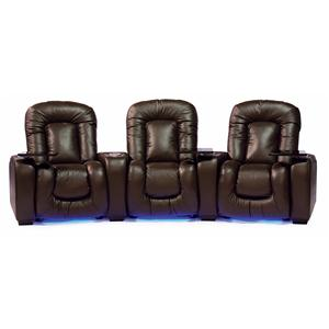 Reclining Home Theater Seating W/ Cup Holders