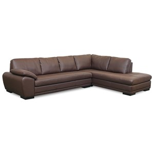 Contemporary 2-Piece Sectional with Corner Chaise