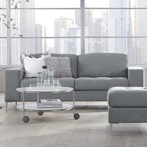 Contemporary Sofa with Tufted Seat Cushions