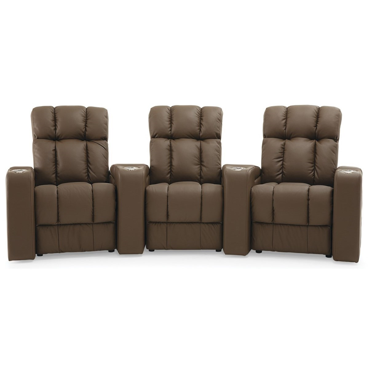 Ovation Theater Seating Reclining Sectional by Palliser at Jordan's Home Furnishings