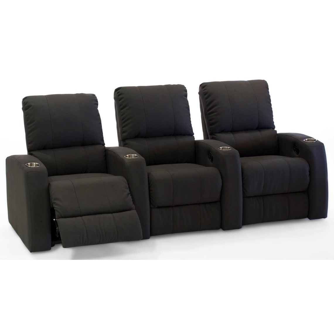 Pacifico  3-Seat Reclining Theater Seating by Palliser at Mueller Furniture