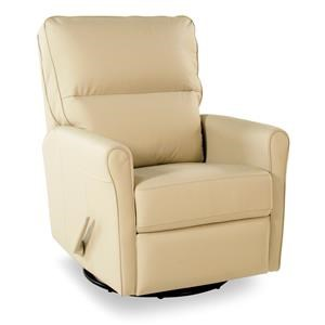 Casual Swivel Glider Recliner with Split Back