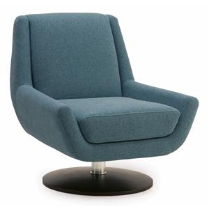 Contemporary Swivel Chair with Metal Base