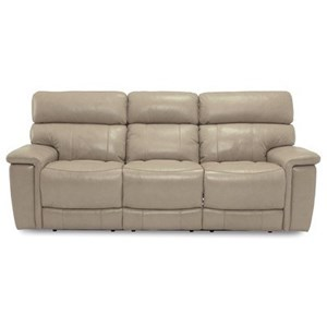 Casual Power Reclining Sofa with Power Headrests & USB Ports