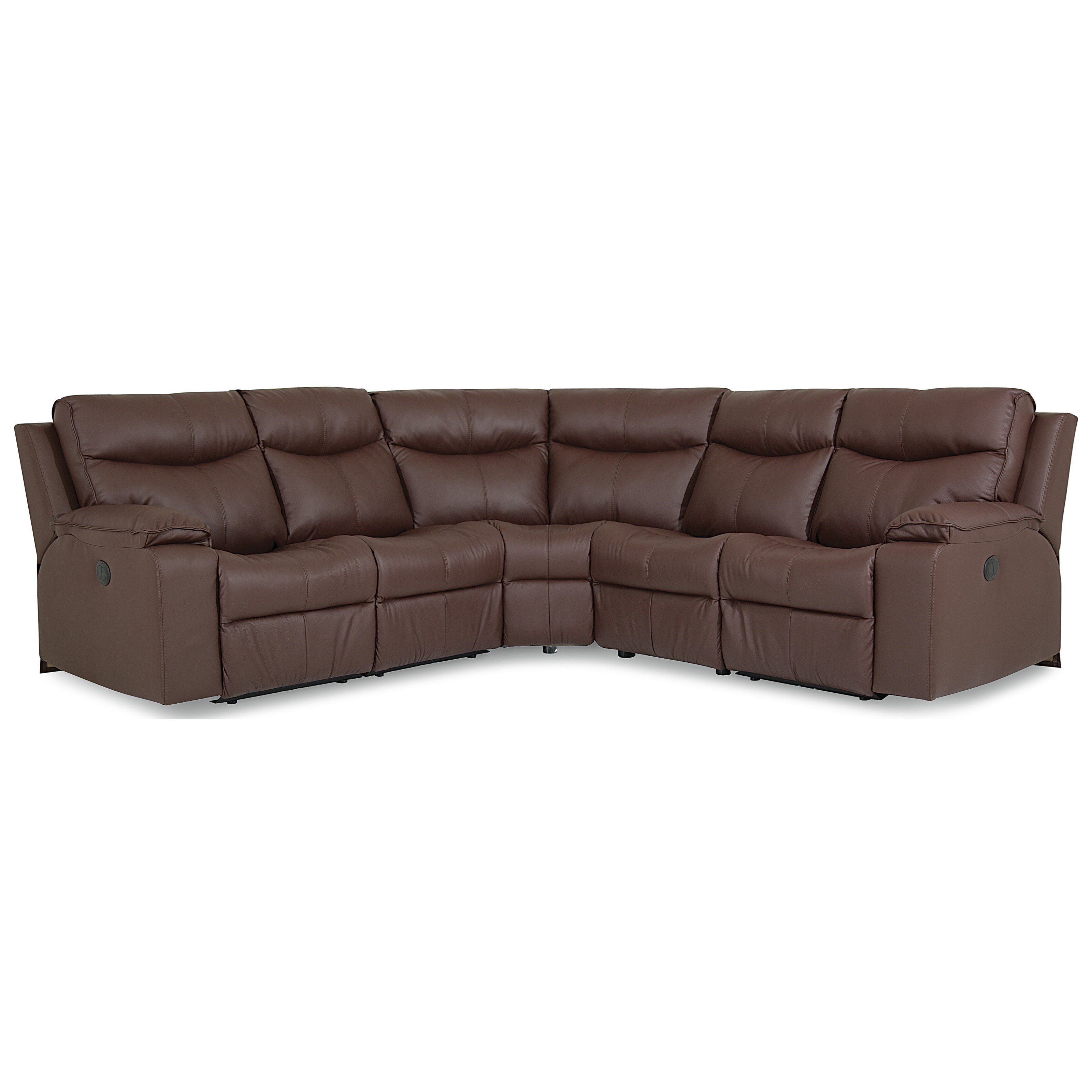 Providence Power Reclining Sectional by Palliser at Jordan's Home Furnishings