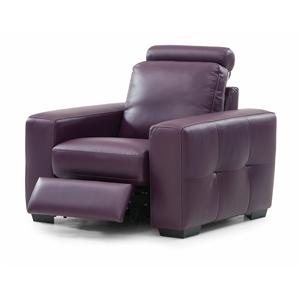 Contemporary Reclining Chair with Round Headrest