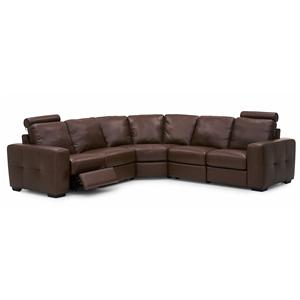 Contemporary Power Dual Reclining Sectional Sofa