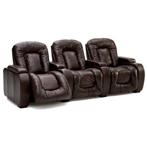 3-Piece Upholstered Reclining Theater Seating