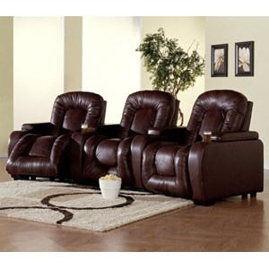 3-Piece Theater Seating with Manual Reclining