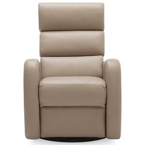 Contemporary Swivel Glider Power Recliner w/ Power Headrest