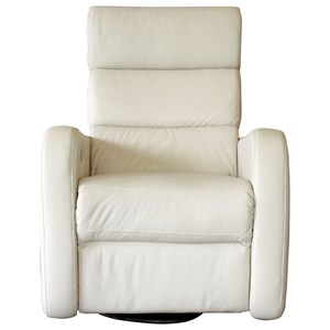 Contemporary Swivel Glider Power Recliner with Power Headrest