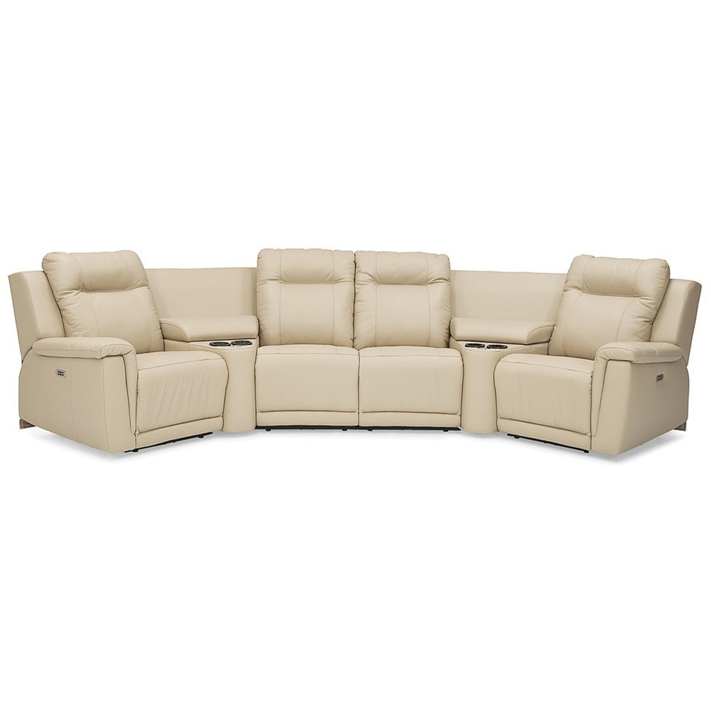 Riley Power Reclining Sectional by Palliser at Jordan's Home Furnishings