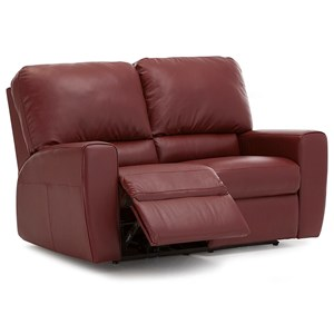 Contemporary Power Reclining Loveseat with Track Arms