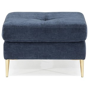 Contemporary Ottoman with Tapered Legs