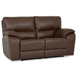 Casual Power Reclining Loveseat with Pillow Arms