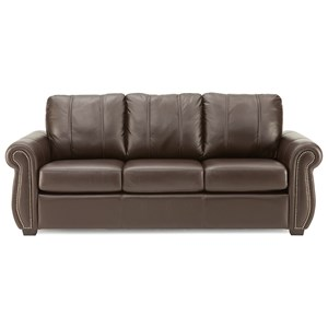 Casual Style Sofa with Nailhead Trim