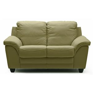 Casual Loveseat with Sloped Pillow Arms