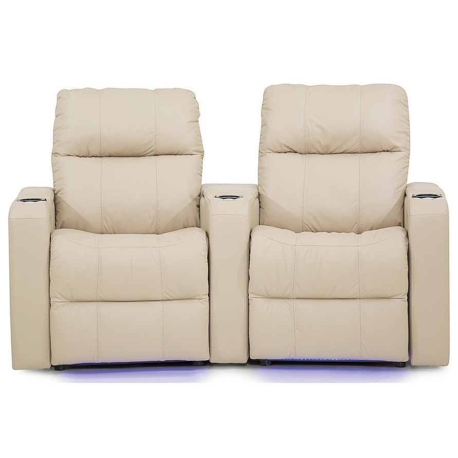 Soundtrack Double Power Theater Recliner by Palliser at Mueller Furniture