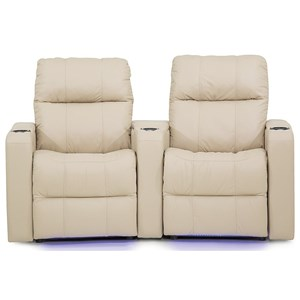 Casual Double Power Headrest Theater Recliner with Storage and USB Charging