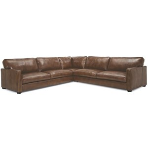 Contemporary Sectional Sofa with Nailhead Trim