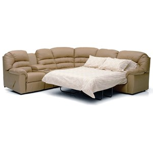 Casual Sectional Sofa Recliner with Sleeper Bed and Storage