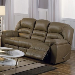 Casual Power Sofa Recliner with Pillow Arms