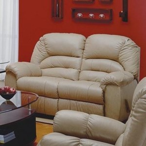 Casual Power Loveseat Recliner with Pillow Arms