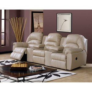 Casual Power Sectional Sofa Recliner with Cupholders and Storage