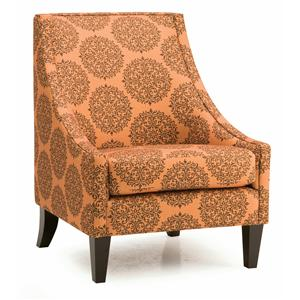 Contemporary Accent Chair with Low Profile Track Arms