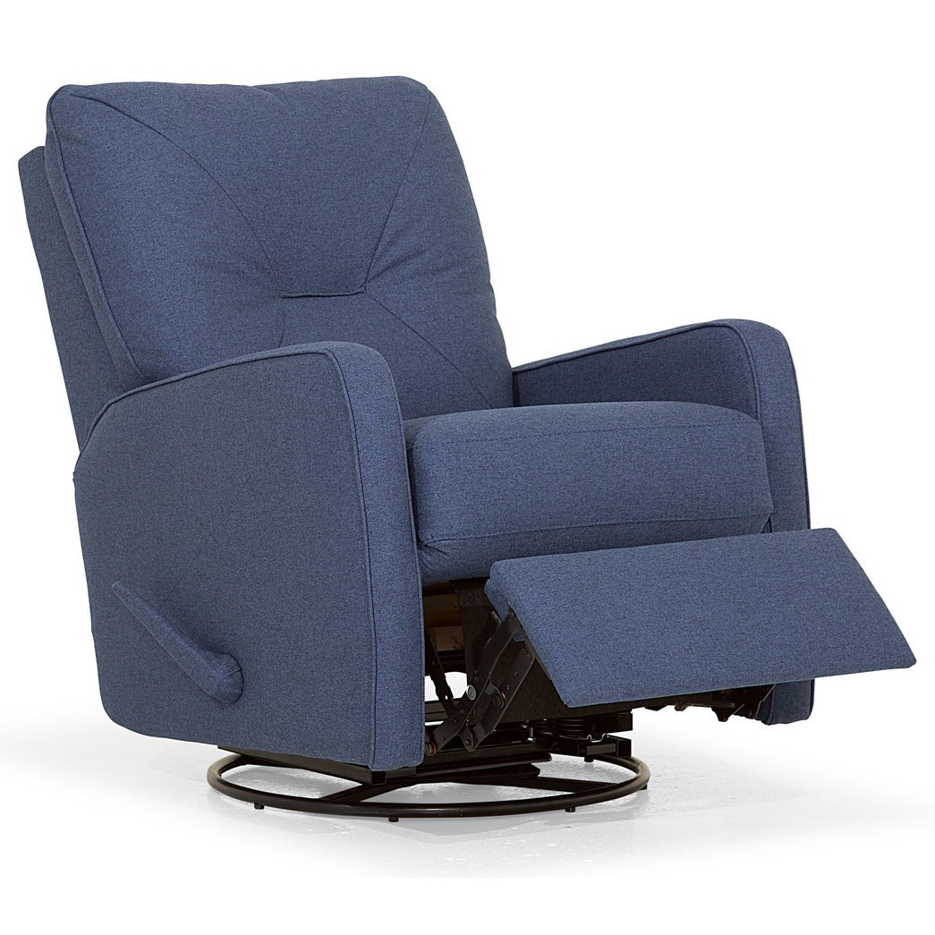 Theo  Swivel Rocker Recliner by Palliser at Jordan's Home Furnishings