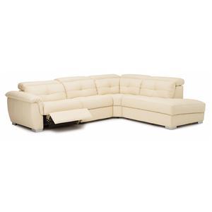 Palliser Tikki Reclining Sectional Sofa with LHF Nest