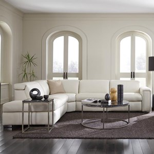 3-Seat Sectional Sofa w/ Pwr Head & Pwr Recl