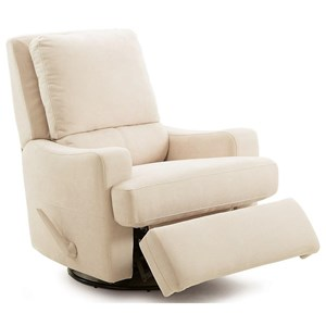 Contemporary Swivel Glider Manual Recliner with Sloped Track Arms
