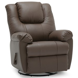 Swivel Rocker Recliner Chair with Pillow Top Arms