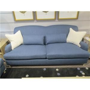 Transitional Sofa with Solid Wood Legs