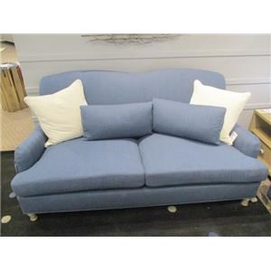 Transitional Apartment Sofa with Solid Wood Legs