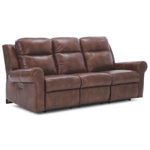 Casual Power Reclining Sofa with Power Headrest