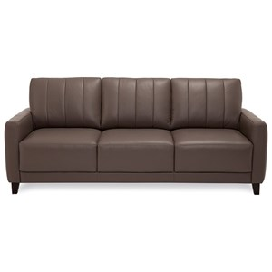 Contemporary Sofa with Channel Back