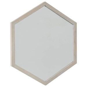 Contemporary Hexagon Wall Mirror