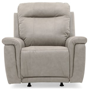 Swivel Rocker Recliner with Pillow Arms