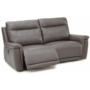 Leather Power Sofa with Footrest