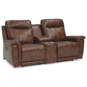 Power Reclining Console Loveseat with Cupholders