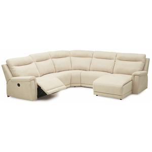 Contemporary Right Hand Facing Sectional w/ Chaise & Recliner