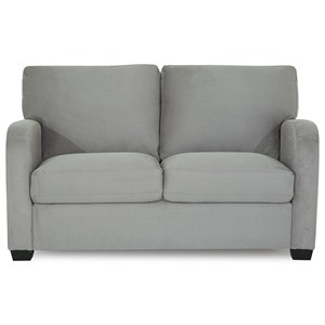 Contemporary Loveseat with Curved Track Arms