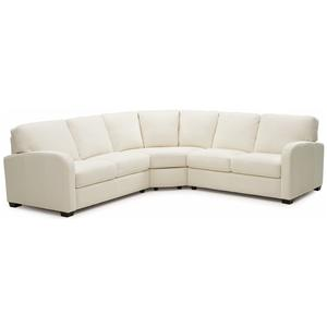 Contemporary 3 pc. Sectional with Curved Track Arms